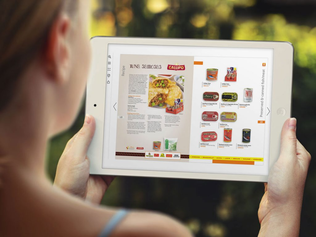 Bladerbare pdf tablet