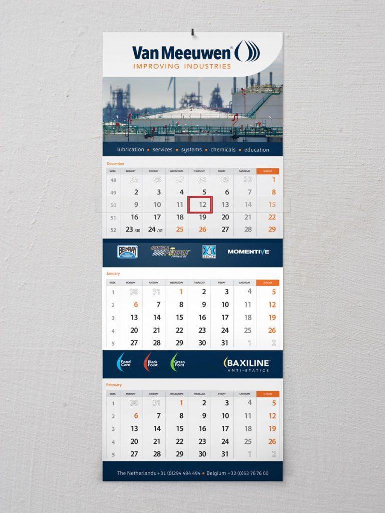 kalender drukken met eigen ontwerp
